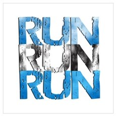 RUN x 3 Framed Print