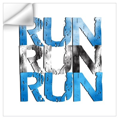 RUN x 3 Wall Decal
