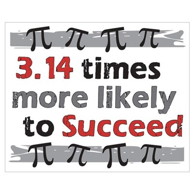 Pi Success - 3.14 times more likely to Succeed Canvas Art