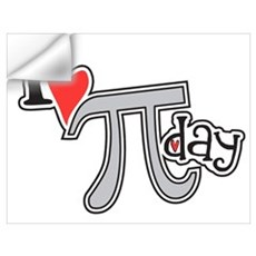 I heart (love) Pi Day Wall Decal