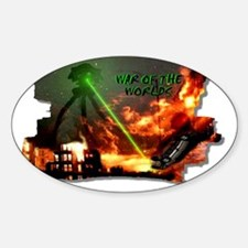 war of the worlds Sticker (Oval)