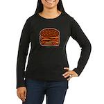 Bacon QUAD! Women's Long Sleeve Dark T-Shirt