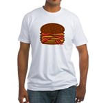 Bacon QUAD! Fitted T-Shirt