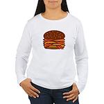 Bacon QUAD! Women's Long Sleeve T-Shirt