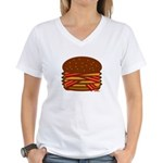 Bacon QUAD! Women's V-Neck T-Shirt