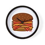 Bacon QUAD! Wall Clock