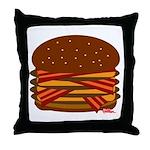 Bacon QUAD! Throw Pillow