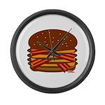 Bacon QUAD! Large Wall Clock