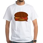 Bacon DOUBLE Cheese! White T-Shirt