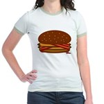 Bacon DOUBLE Cheese! Jr. Ringer T-Shirt