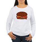 Bacon DOUBLE Cheese! Women's Long Sleeve T-Shirt