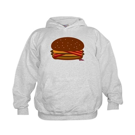 Bacon DOUBLE Cheese! Kids Hoodie