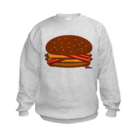 Bacon DOUBLE Cheese! Kids Sweatshirt