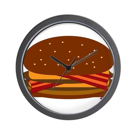 Bacon DOUBLE Cheese! Wall Clock