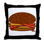 Bacon DOUBLE Cheese! Throw Pillow