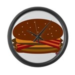 Bacon DOUBLE Cheese! Large Wall Clock