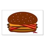 Bacon DOUBLE Cheese! Sticker (Rectangle)