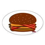 Bacon DOUBLE Cheese! Sticker (Oval)