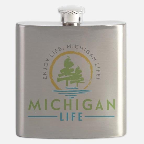 Unique I love michigan Flask
