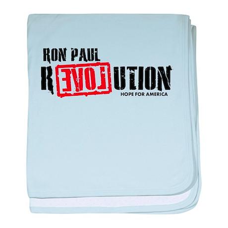 Ron Paul Revolution baby blanket