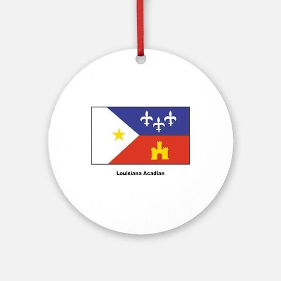 Louisiana Acadian Flag Ornament (Round)