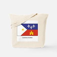 Louisiana Acadian Flag Tote Bag
