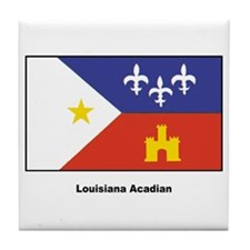 Louisiana Acadian Flag Tile Coaster