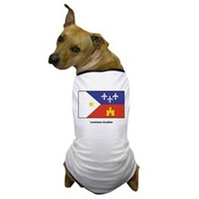 Louisiana Acadian Flag Dog T-Shirt