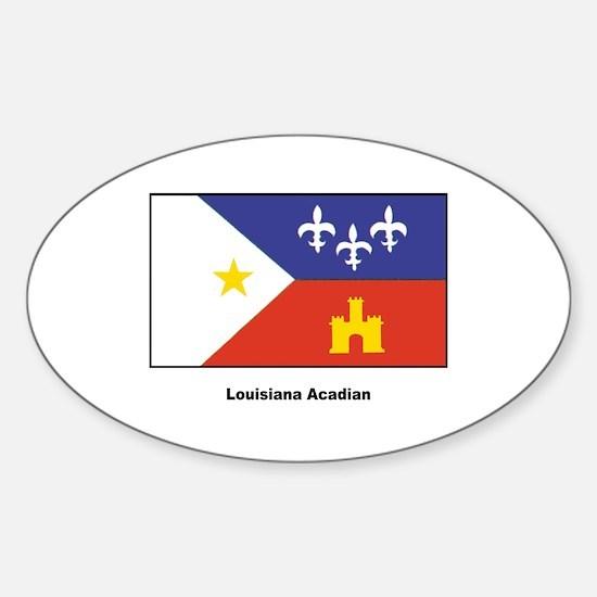 Louisiana Acadian Flag Sticker (Oval)
