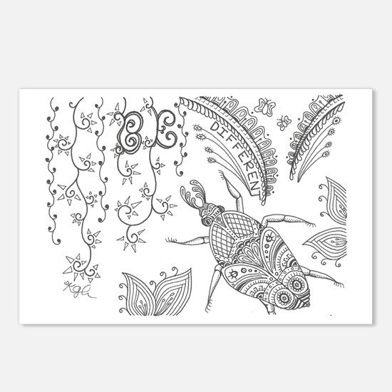 Cool Zentangle Postcards (Package of 8)