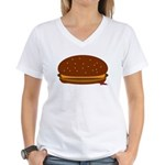 Cheeseburger - The Single! Women's V-Neck T-Shirt