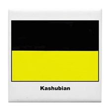Kashubian Ethnic Flag Tile Coaster
