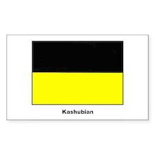Kashubian Ethnic Flag Rectangle Stickers