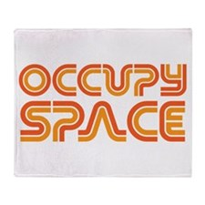 Occupy Space Throw Blanket