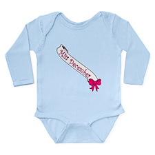 Miss December Long Sleeve Infant Bodysuit