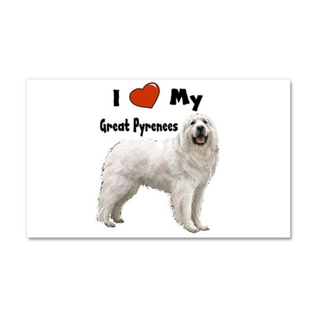 I Love My Great Pyrenees Car Magnet 20 x 12