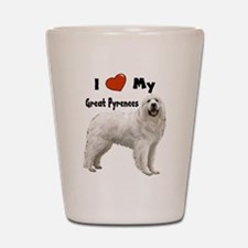 I Love My Great Pyrenees Shot Glass