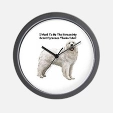 Great Pyrenees Wall Clock