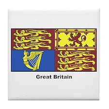 Great Britain Royal Banner Tile Coaster