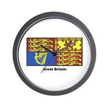 Great Britain Royal Banner Wall Clock