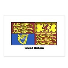 Great Britain Royal Banner Postcards (Package of 8