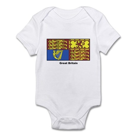 Great Britain Royal Banner Infant Creeper