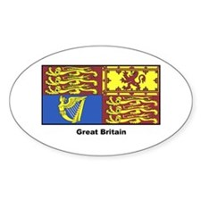 Great Britain Royal Banner Oval Decal