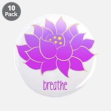 "Breathe Lotus 3.5"" Button (10 pack)"