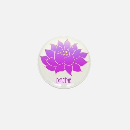 Breathe Lotus Mini Button
