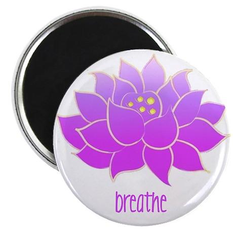 Breathe Lotus Magnet