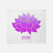 Breathe Lotus Throw Blanket