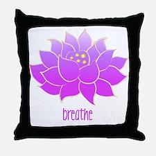 Breathe Lotus Throw Pillow