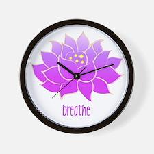 Breathe Lotus Wall Clock