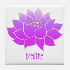 Breathe Lotus Tile Coaster